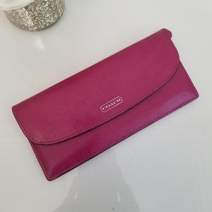 COACH Slim Envelope Fuchsia Wallet Pink Purse